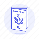 abroad, international, journey, open, overseas, passport, travel, trip icon
