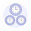clock, difference, offset, standard, time, travel, utc, zone icon