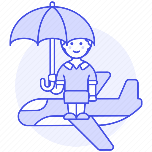Airplane, coverage, female, flight, insurance, journey, plane icon - Download on Iconfinder