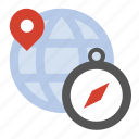 compass, location, navigate, travel icon