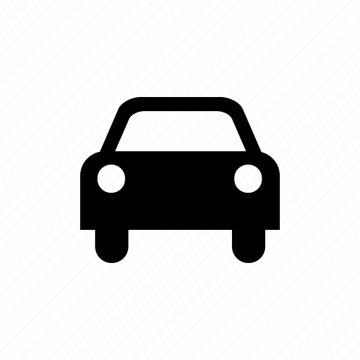 car, drive, front, headlights, transport icon