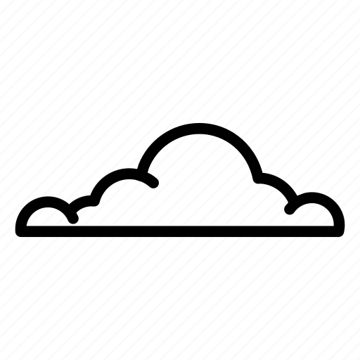 cloud, fog, fome, line, mist, puffy, sky icon