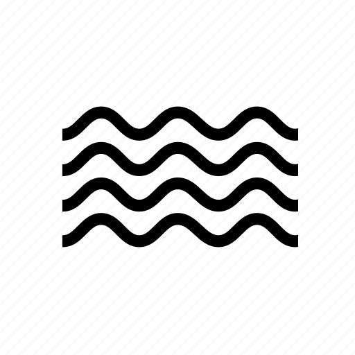 microwaves, ocean, radiation, ripple, sea, water, waves icon
