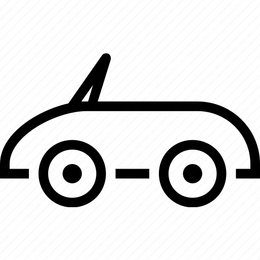 car, convertible, personal, transport, travel, vehicle icon