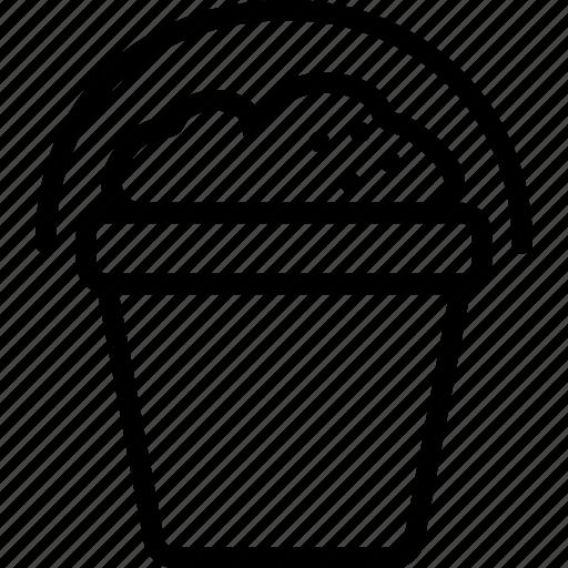 bucket, sand, transport, travel icon