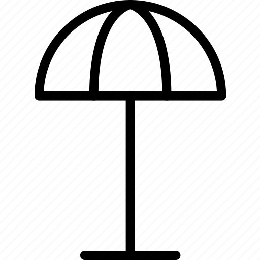 beach, fixed, transport, travel, umbrella icon