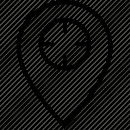 mark, pin, target, transport, travel icon