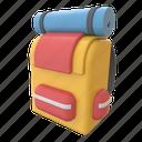 backpack, adventure, baggage, bag, travel, tourism, tourist