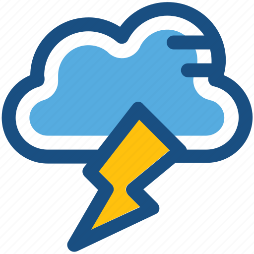 cloud lightning, power bolt, sky cloud, storm cloud, thunderstorm icon