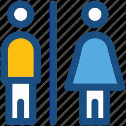 bathroom sign, restroom, toilet sign, washroom sign, wc icon