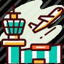 airport, airplane, flight, transport, plane, travel