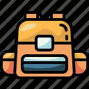 backpack, school, bag, high, education