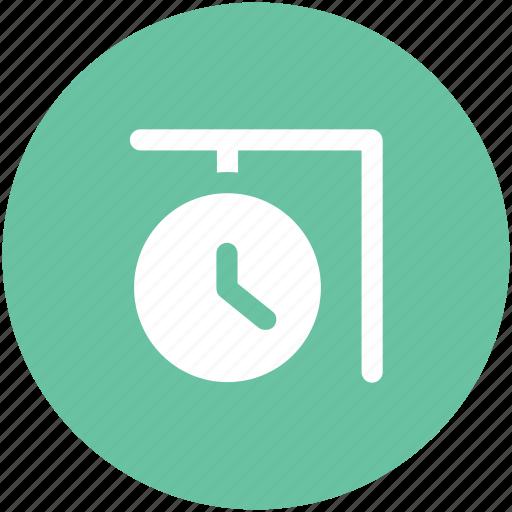 clock, garden clock, hanging clock, outdoor clock, station clock, wall clock icon