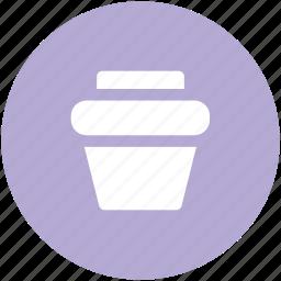 dustbin, trash bin, trash can, waste container icon