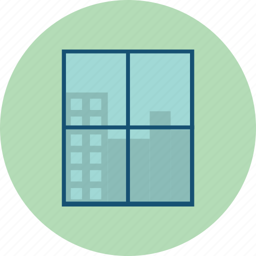 building, business, office, window icon