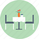 cafe, chair, dinner, hotel, pub, restaurant, table icon