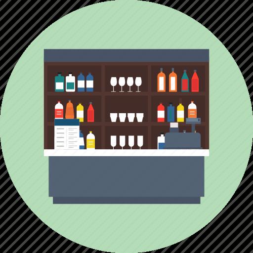 bar, drink, hotel, liqueur, pub, restaurant icon