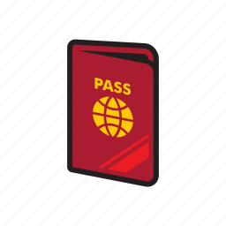 document, flight, passport, travel, visa icon