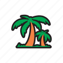 beach, coconut, island, palm, travel, tree icon