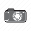 camera, mirrorless, photo, shutter, travel icon