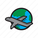 flight, international, plane, travel, world icon