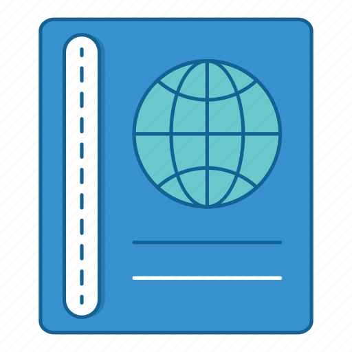 documents, files, holiday, journal, passport, travel, vacation icon