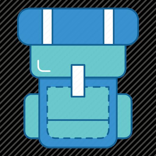 backpack, backpacker, bag, hiking, holiday, travel, vacation icon
