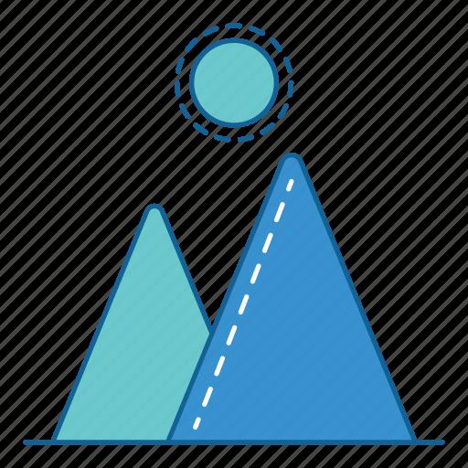 camping, hiking, holiday, holidays, mountain, travel, vacation icon