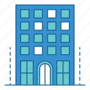 apartment, architecture, building, city, hotel, stay, vacation icon
