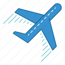 airport, fly, holiday, plane, transportation, travel, vacation icon