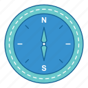 compass, direction, hiking, holiday, stuff, travel, vacation icon