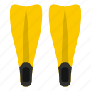 dive, diving, equipment, flippers, sea, sport, water icon