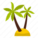 summer, leaf, nature, tree, palm, tropic, beach