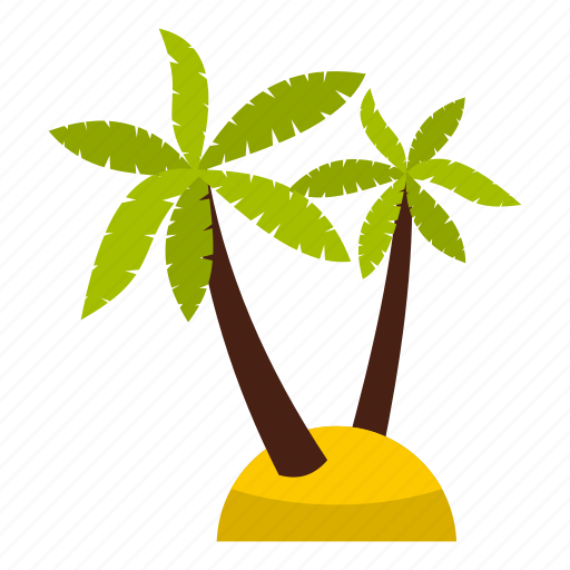 beach, leaf, nature, palm, summer, tree, tropic icon