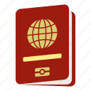 citizenship, document, identification, passport, tourism, travel, vacation icon