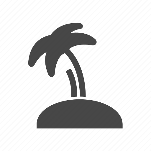 beach, coconut, nature, palm, tree icon