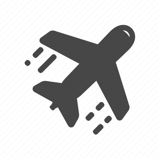 airport, fly, plane, travel icon