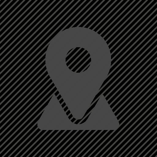 map, pointer, travel icon
