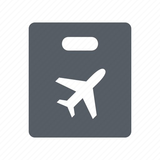 airport, bag, duty, free, shopping icon