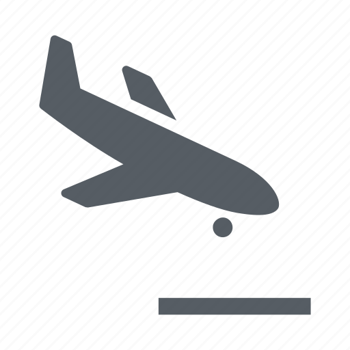 airplane, airport, arrival, fly, transportation, travel icon