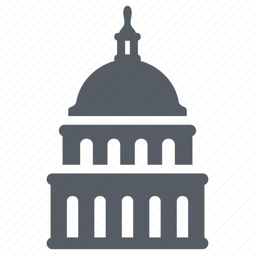 capitol, government, landmark, senate, usa, washington icon