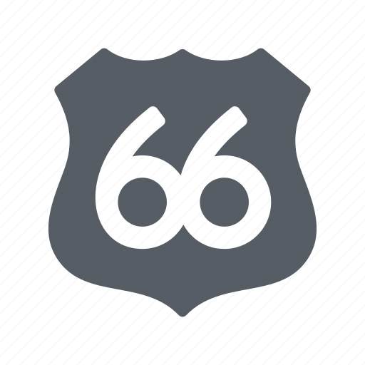 classic, highway, road, route, usa icon