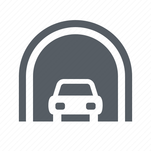 highway, road, traffic, transportation, travel, tunnel icon