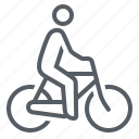 bicycle, bike, people, transportation icon