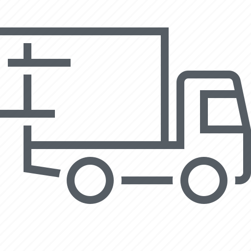 delivery, logistics, transportation, travel, truck icon