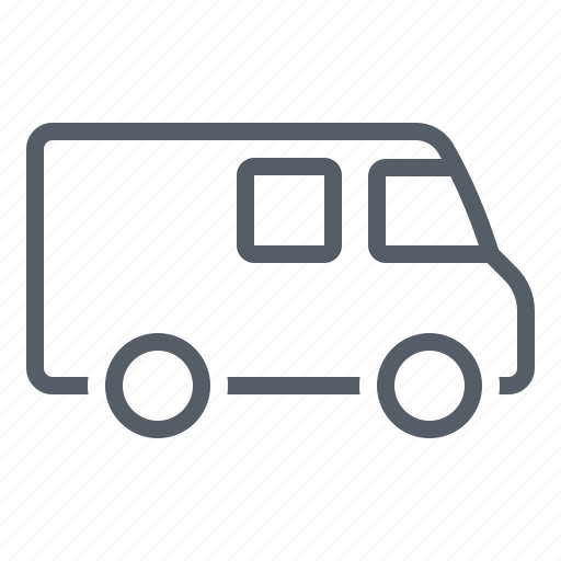 delivery, logistics, transportation, travel, truck, van icon