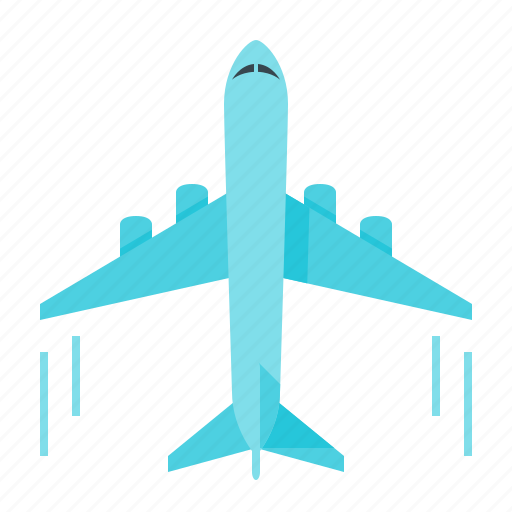 airliner, airplane, flight, plane, transport, transportation, travel icon
