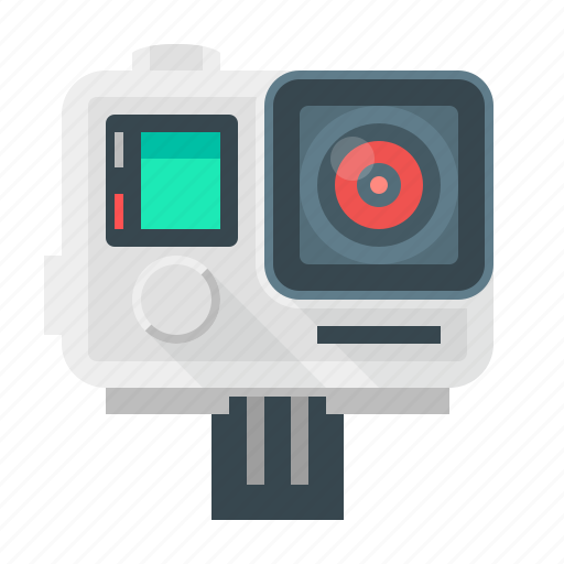 cam, camera, device, film, go pro, movie, technology icon
