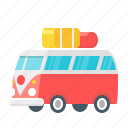 camper, travel, bus, camping, holiday, tourism, transport icon