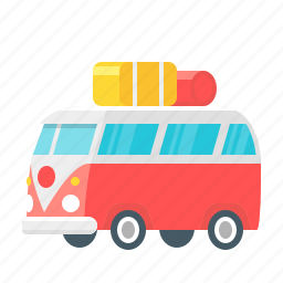 bus, camper, camping, holiday, tourism, transport, travel icon